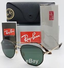 8a0e0e6161 NEW Rayban Blaze Hexagonal sunglasses RB3579N 001 71 58 Gold Grey Round G15  3579