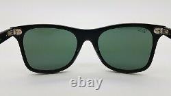 NEW Rayban Blaze Wayfarer sunglasses RB4440N 601S71 41mm Black Green AUTHENTIC