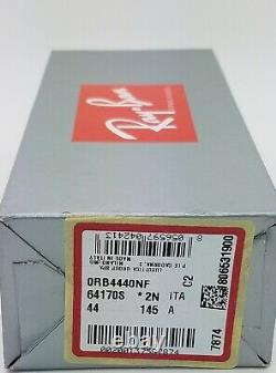 NEW Rayban Blaze Wayfarer sunglasses RB4440NF 64170S 44 Blue Gradient AUTHENTIC