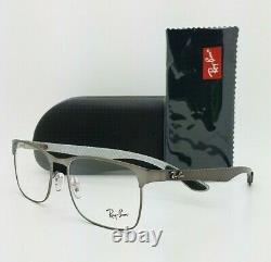 NEW Rayban Carbon Fiber Rx Eyeglasses Frame RX8416 2620 55mm Gunmetal AUTHENTIC