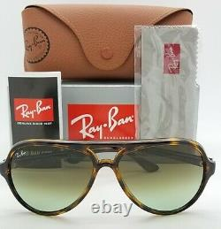 NEW Rayban Cats Sunglasses RB4125 710/A6 59mm Tortoise Green Gradient AUTHENTIC