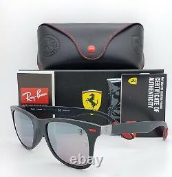 NEW Rayban Ferrari Wayfarer sunglasses RB4195MF F602H2 52mm Chromance AUTHENTIC