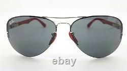 NEW Rayban Ferrari sunglasses RB3460M 013/87 Silver Aviator Carbon F AUTHENTIC