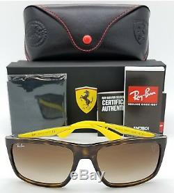 NEW Rayban Ferrari sunglasses RB4228M F60913 Tortoise Yellow Brown Gradient 4228