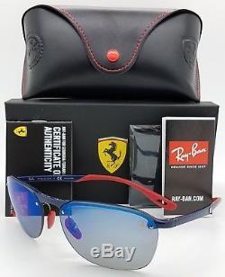 NEW Rayban Ferrari sunglasses RB4302M F606H0 Scuderia 4302 Blue Polarized RARE