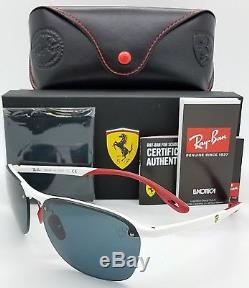 NEW Rayban Ferrari sunglasses RB4302M F62587 White Red Grey 4302 Limited GENUINE