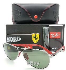 NEW Rayban Ferrari sunglasses RB8313M F00171 Green Classic Aviator Carbon Fiber