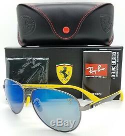 NEW Rayban Ferrari sunglasses RB8313M F003H0 Blue Polarized Aviator Carbon Fiber
