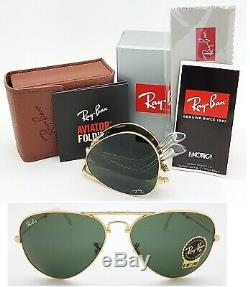 NEW Rayban Folding Aviator sunglasses RB3479 001 58mm Gold G15 3479 AUTHENTIC