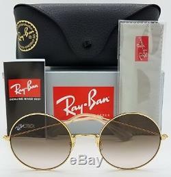 NEW Rayban Ja-Jo sunglasses RB3592 001/13 50mm Gold Brown Grad Round 3592 Lennon