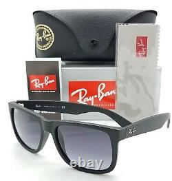 NEW Rayban Justin sunglasses RB4165 601/8G 55 Matte Black Gry Gradient AUTHENTIC