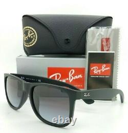 NEW Rayban Justin sunglasses RB4165F 622/8G 58 Black Grey Gradient AUTNETIC 4165