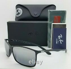 NEW Rayban Liteforce sunglasses RB4179 601S82 Black Silver Polarized AUTHENTIC