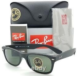 NEW Rayban New Wayfarer sunglasses RB2132 622 55 Matte Black G-15 2132 AUTHENTIC