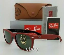 NEW Rayban New Wayfarer sunglasses RB2132 646631 58mm Red G15 Green AUTHENTIC