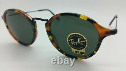 NEW Rayban Round Fleck Sunglasses RB2447 1157 49mm Classic Green G15 AUTHENTIC