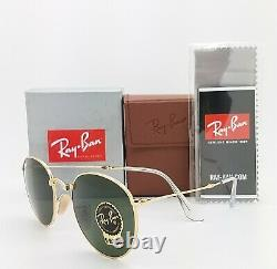NEW Rayban Round Metal Folding Sunglasses RB3532 001 50 Classic G-15 AUTHENTIC