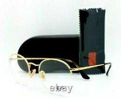 NEW Rayban Rx Eyeglasses Frame RX3947V 2500 51mm Gold 3947 GENUINE Round Rimless