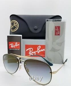 NEW Rayban Sunglasses Blaze Aviator RB3584N 91400S Blue Gradient Mirror GENUINE