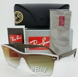 NEW Rayban Sunglasses Blaze Wayfarer RB4440N 6358W0 Transparent Green AUTHENTIC