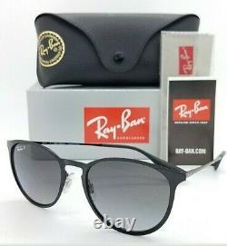 NEW Rayban Sunglasses Erika Metal RB3539 002/T3 Black Grey Polarized AUTHENTIC