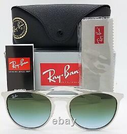 NEW Rayban Sunglasses Erika Metal RB3539 9080I7 54mm Silver Blue Grey Gradient