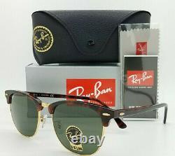 NEW Rayban Sunglasses RB3016F W0366 55mm Havana Tortoise G-15 Classic Clubmaster