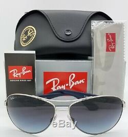 NEW Rayban Sunglasses RB3526 019/8G 63mm Silver Grey Gradient AUTHENTIC 3526