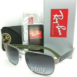 NEW Rayban Sunglasses RB3530 004/8G 58mm Gunmetal Light Grey Gradient AUTHENTIC