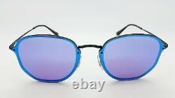NEW Rayban Sunglasses RB3579N 153/7V 58mm Blaze Mirror Hexagonal Violet Blue