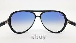 NEW Rayban Sunglasses RB4125 601/3F 59mm Black Light Blue Gradient AUTHENTIC