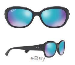 NEW Rayban Sunglasses RB4282CH 601/A1 55 Black Blue Polarized Chromance Jackie O