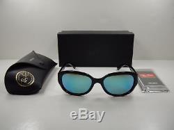 57b2a1448d74c NEW Rayban Sunglasses RB4282CH 601 A1 55 Black Blue Polarized Chromance  Jackie O