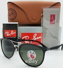 NEW Rayban Sunglasses RB4285 601/9A 55 Black Polarized Green G15 Double Bar 4285