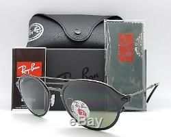 NEW Rayban Sunglasses RB4287 601/9A 55 Black Grey Polarized Round 4287 Light Ray