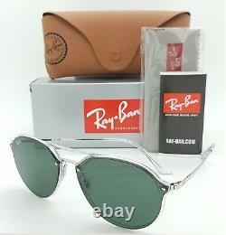 NEW Rayban Sunglasses RB4292N 632571 62mm Transparent Silver Green Double Bridge