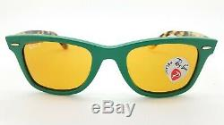 NEW Rayban Wayfarer Sunglasses RB2140F 1240N9 52 Green Tortoise Yellow Polarized