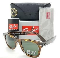 NEW Rayban Wayfarer sunglasses RB4340 710 50mm Gloss Tortoise Grey Green GENUINE