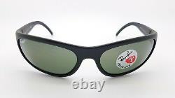 NEW Rayban Wrap Sunglasses RB4033 601-S/48 60mm PREDATOR Matte Black Polarized