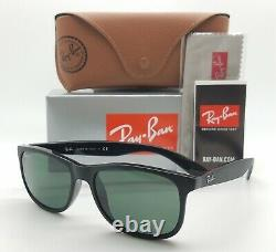 NEW Rayban sunglasses ANDY RB4202 6069/71 55mm Matte Black Classic Green GENUINE