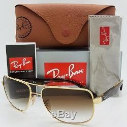 NEW Rayban sunglasses RB3483 001/51 Gold Tortoise Brown Gradient GENUINE 3483