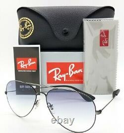 NEW Rayban sunglasses RB3558 913919 58mm Black Blue Gradient Aviator AUTHENTIC