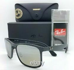 NEW Rayban sunglasses RB4264 601S5J 58mm Black Silver Mirror Chromance AUTHENTIC