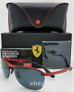 NEW Rayban sunglasses RB4302M F62387 62mm Ferrari Red Dark Grey Mirror GENUINE