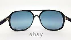 NEW Rayban sunglasses RB4312CH 601/J0 57mm Black / Chromance Blue Gold Polarized