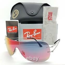 NEW Rayban sunglasses RB8057 159/6Q 34mm Lightray Titanium Orange Mirror GENUINE