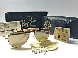 NEW VINTAGE RAY BAN THE GENERAL 50! 1st EDITION! GOLD FULL SET 58MM SUNGLASSES