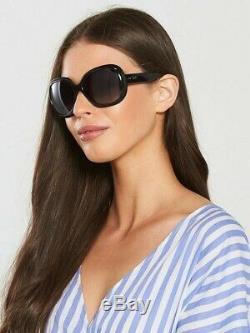 NEW Women Black Ray-Ban Jackie Ohh II Fashion Sunglasses, Grey UV Lens, RB4098