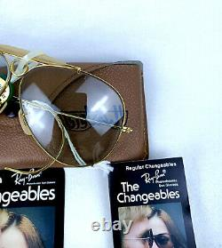 NOS Ray-Ban SHOOTER SUNGLASSES VINTAGE B&l USA CHANGEABLES PHOTOCHROMIC LENSES