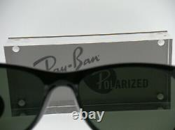 New Authentic Ray-Ban RB 2132 901/58 55MM Shiny Black / Green Crystal Polarized